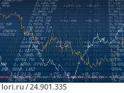 Купить «Stocks and shares», фото № 24901335, снято 17 июля 2018 г. (c) Wavebreak Media / Фотобанк Лори