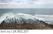 Купить «Surf ocean waves.», видеоролик № 24902251, снято 9 января 2017 г. (c) Юрий Брыкайло / Фотобанк Лори