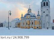 Купить «Воскресенский собор, Вологда», фото № 24908799, снято 2 декабря 2016 г. (c) Ирина Яровая / Фотобанк Лори