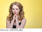 Купить «Young beautiful woman», фото № 24910243, снято 10 января 2017 г. (c) Типляшина Евгения / Фотобанк Лори
