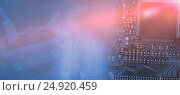 Купить «Composite image of view of data technology», фото № 24920459, снято 20 марта 2019 г. (c) Wavebreak Media / Фотобанк Лори