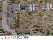 Купить «Архитектурный макет Москвы, Садовая Сенная и здание МИД с высоты», эксклюзивное фото № 24925599, снято 24 июня 2016 г. (c) Ольга Липунова / Фотобанк Лори