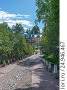 Купить «Свято-Успенский Псково-Печерский монастырь», фото № 24946467, снято 12 августа 2016 г. (c) Геннадий Соловьев / Фотобанк Лори
