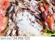Купить «fresh putassu on market», фото № 24958123, снято 25 октября 2016 г. (c) Яков Филимонов / Фотобанк Лори
