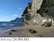 Playa de Monsul. Cabo de Gata-Nijar Natural Park. Spain (2016 год). Стоковое фото, фотограф Alexander Tihonovs / Фотобанк Лори