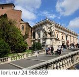 Купить «Лестница Микеланджело. Рим, Италия», эксклюзивное фото № 24968659, снято 18 апреля 2015 г. (c) Яна Королёва / Фотобанк Лори