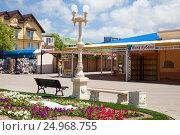 Купить «Курорты Краснодарского края. Село Архипо-Осиповка, аллея, ведущая к набережной», фото № 24968755, снято 27 мая 2013 г. (c) SummeRain / Фотобанк Лори