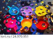 Colorful Abstract Background Through Drops. Стоковое фото, фотограф Светлана Сухорукова / Фотобанк Лори