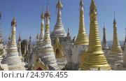 Купить «Shwe Inn Thein Paya temple complex in Myanmar», видеоролик № 24976455, снято 16 ноября 2016 г. (c) Михаил Коханчиков / Фотобанк Лори