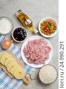 Ингредиенты для курицы терияки. Стоковое фото, фотограф Julia Ovchinnikova / Фотобанк Лори