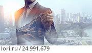 Купить «His business growth and progress . Mixed media», фото № 24991679, снято 24 сентября 2018 г. (c) Sergey Nivens / Фотобанк Лори