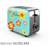 Купить «Vintage toaster isolated on white 3D illustration», иллюстрация № 24992843 (c) Hemul / Фотобанк Лори