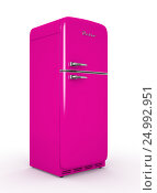 Купить «Retro fridge isolated white background 3D rendering», иллюстрация № 24992951 (c) Hemul / Фотобанк Лори