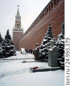 Купить «У кремлевской стены.Некрополь.», фото № 24993379, снято 15 января 2017 г. (c) Александр Гаврилов / Фотобанк Лори