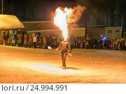 Купить «Огненное шоу. Файер шоу.», фото № 24994991, снято 29 января 2017 г. (c) Евгений Ткачёв / Фотобанк Лори