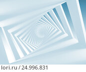 Купить «Abstract white twisted spiral corridor», иллюстрация № 24996831 (c) EugeneSergeev / Фотобанк Лори