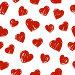 Бесшовный фон с сердечками, иллюстрация № 24998219 (c) Евгения Малахова / Фотобанк Лори