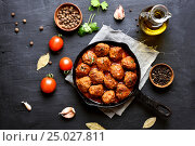 Купить «Meatballs in tomato sauce», фото № 25027811, снято 18 января 2017 г. (c) Татьяна Волгутова / Фотобанк Лори