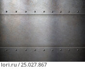 Купить «Rust metal old texture or background with rivets», иллюстрация № 25027867 (c) Андрей Кузьмин / Фотобанк Лори