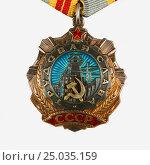 Орден Трудовой Славы  II степени. Стоковое фото, фотограф михаил красильников / Фотобанк Лори