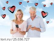 Купить «Digital composite of loving couple», фото № 25036727, снято 17 февраля 2019 г. (c) Wavebreak Media / Фотобанк Лори
