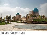 Купить «Комплекс Дор-ут Тиловат и мечеть Кок Гумбаз. Шахрисабз, Узбекистан», фото № 25041251, снято 16 октября 2016 г. (c) Юлия Бабкина / Фотобанк Лори