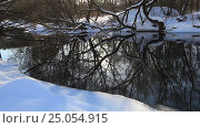 Купить «Зимняя река, деревья и снег», видеоролик № 25054915, снято 2 февраля 2017 г. (c) Яна Королёва / Фотобанк Лори