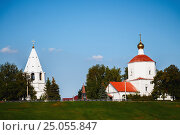 Купить «Church on the coast in Syzran, Samara region, Russia», фото № 25055847, снято 12 августа 2016 г. (c) Николай Чутчиков / Фотобанк Лори