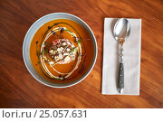 Купить «vegetable pumpkin-ginger soup in bowl», фото № 25057631, снято 16 января 2017 г. (c) Syda Productions / Фотобанк Лори
