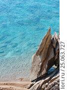 Купить «Summer Sithonia rocky coast, Greece.», фото № 25063727, снято 23 июля 2016 г. (c) Юрий Брыкайло / Фотобанк Лори