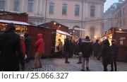 Купить «Old Town Christmas Market in Stockholm, Sweden», видеоролик № 25066327, снято 27 ноября 2016 г. (c) Stockphoto / Фотобанк Лори