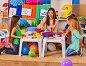 Children painting and drawing. Art lesson in primary school., фото № 25067671, снято 4 октября 2015 г. (c) Gennadiy Poznyakov / Фотобанк Лори