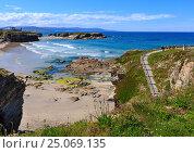 Los Castros beach (Galicia, Spain). (2016 год). Стоковое фото, фотограф Юрий Брыкайло / Фотобанк Лори