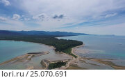 Купить «Aerial video of cape and sea in Thailand», видеоролик № 25070691, снято 27 января 2017 г. (c) Михаил Коханчиков / Фотобанк Лори
