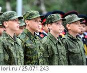 Купить «Московские кадеты», фото № 25071243, снято 1 сентября 2014 г. (c) Free Wind / Фотобанк Лори