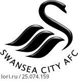 """Эмблема футбольного клуба """"Swansea City Association Football Club"""". Англия. Стоковая иллюстрация, иллюстратор Владимир Макеев / Фотобанк Лори"""