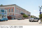Купить «Касимов. Дом М. А. Якунчикова», фото № 25081599, снято 21 июня 2012 г. (c) Бурмистрова Ирина / Фотобанк Лори