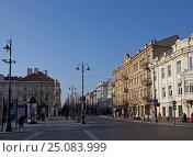 Купить «Литва. Вильнюс. Проспект Гедиминаса», фото № 25083999, снято 2 ноября 2010 г. (c) Irina Kruskop / Фотобанк Лори