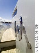 Купить «Fipa Italiana Yachts 24-metre luxury Cantieri Maiora-style superyacht. Viareggio, Tuscany, Italy. ^^^She can accommodate eight guests and three crew.», фото № 25109139, снято 16 июля 2018 г. (c) Nature Picture Library / Фотобанк Лори