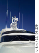 Купить «Fipa Italiana Yachts 24-metre luxury Cantieri Maiora-style superyacht. Viareggio, Tuscany, Italy. ^^^She can accommodate eight guests and three crew.», фото № 25109239, снято 18 июня 2019 г. (c) Nature Picture Library / Фотобанк Лори