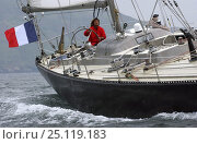 "Купить «Marie Tabarly, daughter of French sailing legend Eric Tabarly, sailing ""Pen Duick VI"" to Plymouth to watch the start of the Transat 2004, celebrating 40...», фото № 25119183, снято 17 августа 2018 г. (c) Nature Picture Library / Фотобанк Лори"