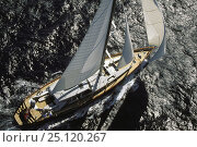 "Купить «123ft sloop superyacht ""Helios"" racing in Antigua, Caribbean.», фото № 25120267, снято 18 августа 2018 г. (c) Nature Picture Library / Фотобанк Лори"