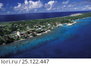 Купить «Aerial view of Rangiroa and lagoon, Tuamotu Archipelago, Polynesia.», фото № 25122447, снято 17 июля 2018 г. (c) Nature Picture Library / Фотобанк Лори