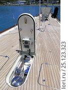 "Купить «Anchor windlass in the deck locker of teak decked 140ft superyacht ""Rebecca"".», фото № 25123323, снято 18 июля 2019 г. (c) Nature Picture Library / Фотобанк Лори"