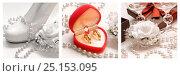 Купить «Триптих, Свадебные композиции», фото № 25153095, снято 19 января 2020 г. (c) Виктор Топорков / Фотобанк Лори