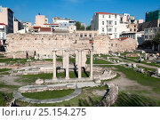 Купить «Remains of the Roman Agora, Athens, Greece, Mediterranean, January 2011.», фото № 25154275, снято 22 июля 2018 г. (c) Nature Picture Library / Фотобанк Лори