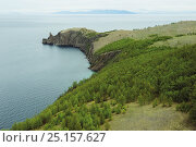 Купить «Cape Hoboy cliffs, Olkhon island, Lake Baikal, Russia, June 2014.», фото № 25157627, снято 20 января 2018 г. (c) Nature Picture Library / Фотобанк Лори
