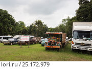 Купить «Vehicles confiscated from Siam rosewood tree poachers, stored as evidence, Thap Lan National Park, Dong Phayayen-Khao Yai Forest Complex, eastern Thailand, August.», фото № 25172979, снято 17 ноября 2019 г. (c) Nature Picture Library / Фотобанк Лори