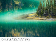 Купить «Green waters of Emerald Lake, near Carcross, Yukon Territories, Canada, September 2013.», фото № 25177975, снято 17 августа 2018 г. (c) Nature Picture Library / Фотобанк Лори