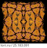 Купить «Kaleidoscope pattern formed from picture of Bearded Dragon (Pogona vitticeps) EMBARGOED FOR NAT GEO UNTIL the end of 2015», фото № 25183091, снято 14 августа 2018 г. (c) Nature Picture Library / Фотобанк Лори